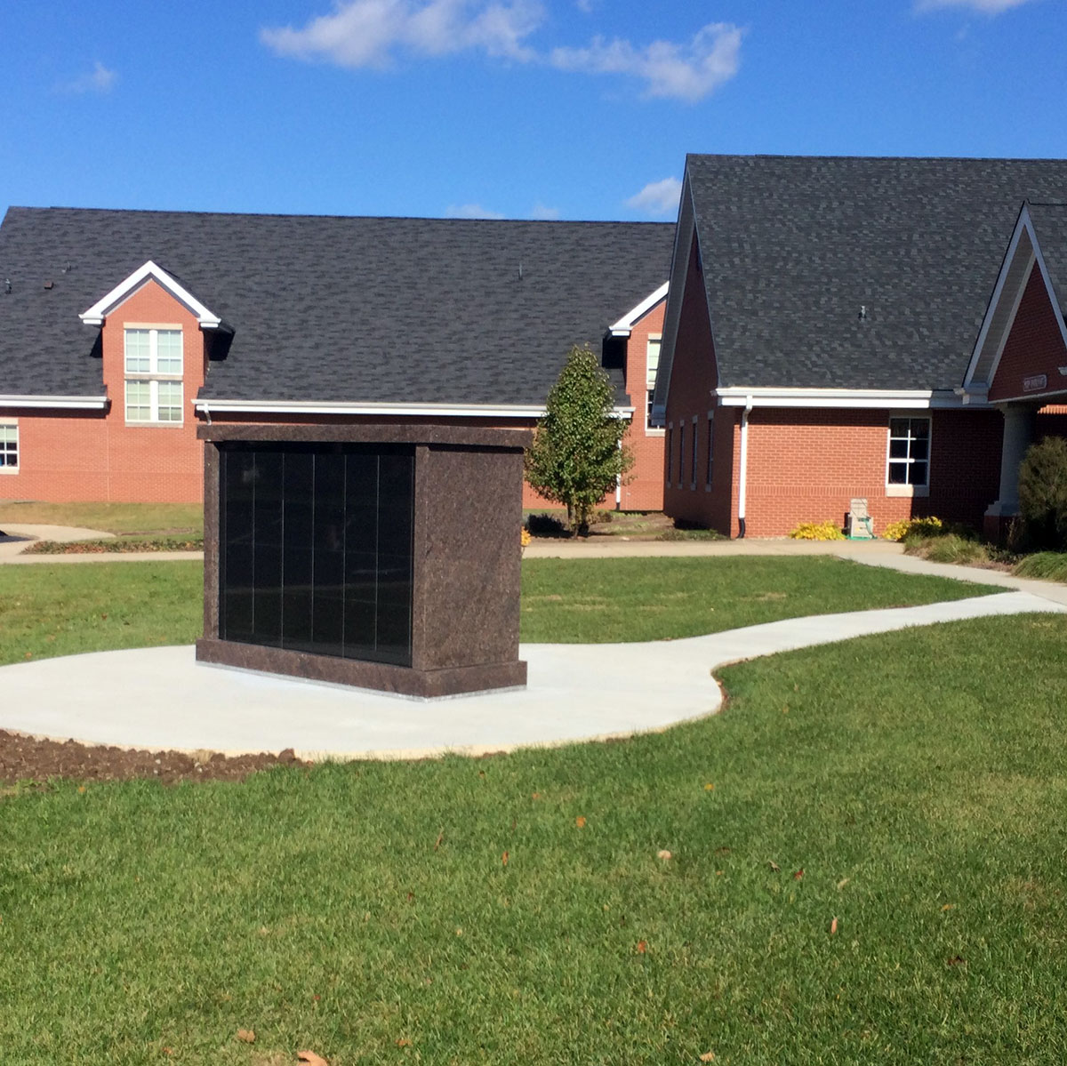 48-Niche Free-Standing Columbarium Installed at Christ United Methodist Church